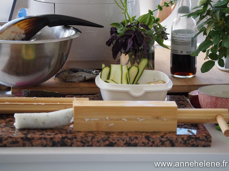 sushi maison aux légumes