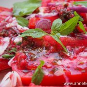 tomates à la framboise