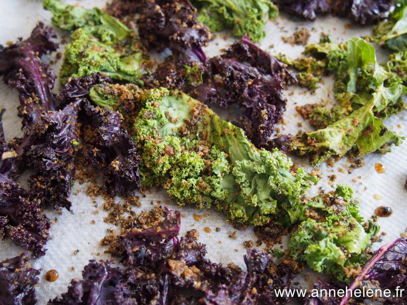chou kale aux algues