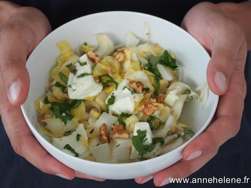 salade d'endives et mozzarella