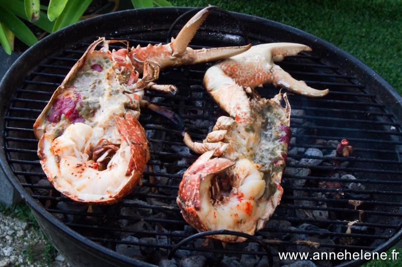 homard vivant cuit au bbq