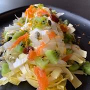 Salade d'endive au saumon et au kiwi