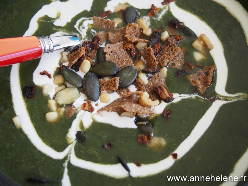 Veouté de cresson, soupe crémée