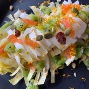 salade d'endives aux graines et saumon fumé