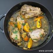 poulet mandarine et olive