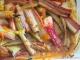 Compote de rhubarbe cuite au four