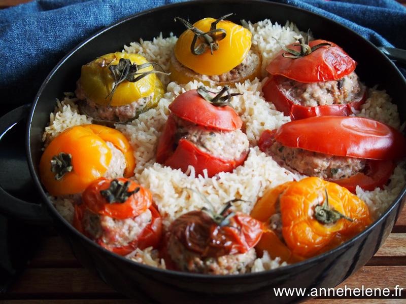 tomates farcies en cocotte
