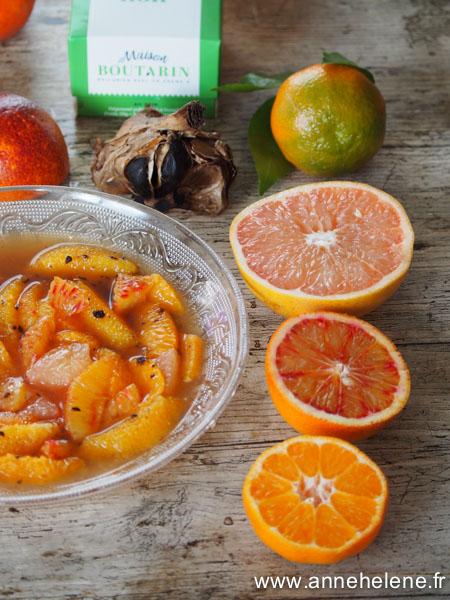 Recette de salade d'agrumes orange et pamplemousse